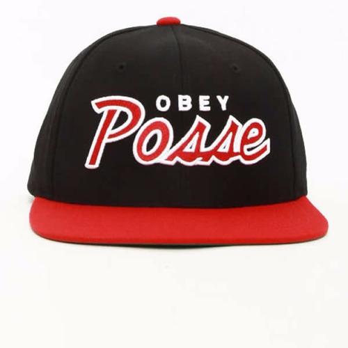 gorra obey posse black red marcas de skate / surf ¦