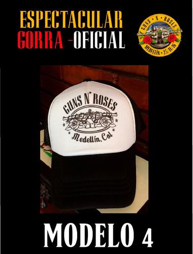 gorra oficial guns and roses medellin