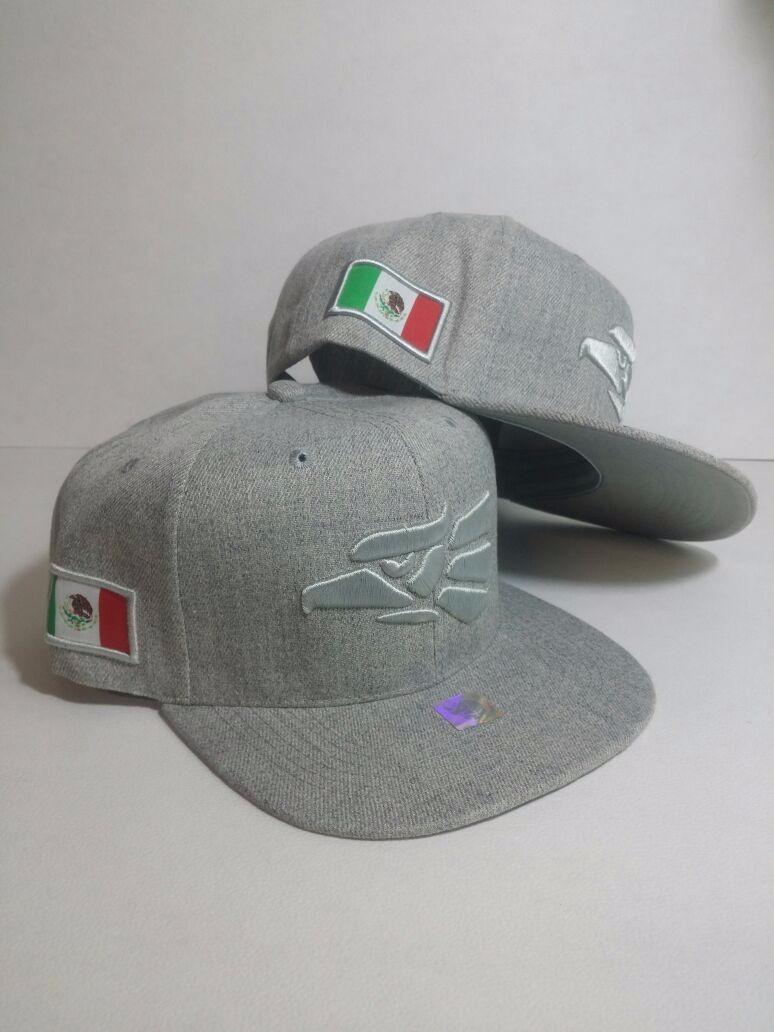 7c372d045b165 gorra original hecho en mexico aguila snapback doble gris cl. Cargando zoom.