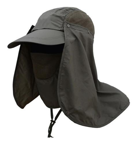 gorra para sol con protección de cuello y cara (sombrero)