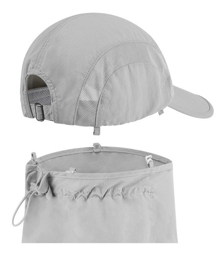 gorra para sol con  tela taslon secadorapido suave uv40