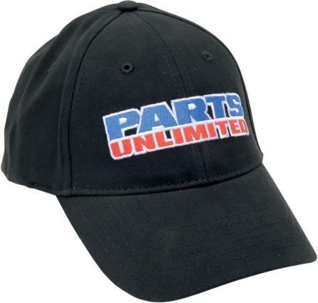 gorra parts unlimited hombre flexfit negro/azul/rojo sm/md