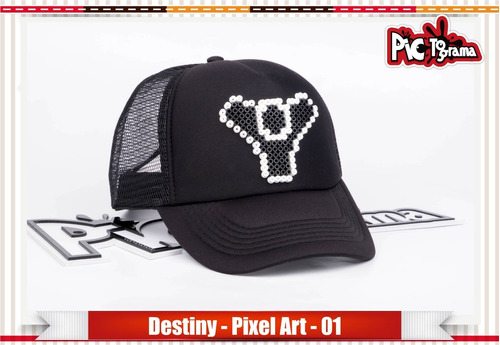 gorra pixel art - destiny - estilo retro 8 bits activision