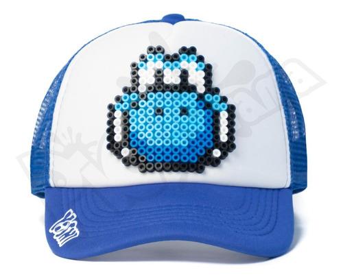 gorra pixel art yoshi - super mario retro 8 bits