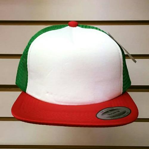 gorra plana con malla lisa y combinada colores mayoreo