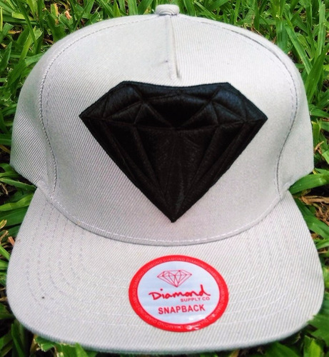 gorra plana diamond/obey/brixton con sticker 100% originales
