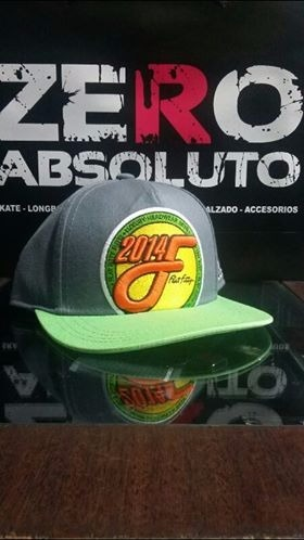 Gorra Plana Flat Fitty Gris Verde - Zero Absoluto -   550 06203e2f128