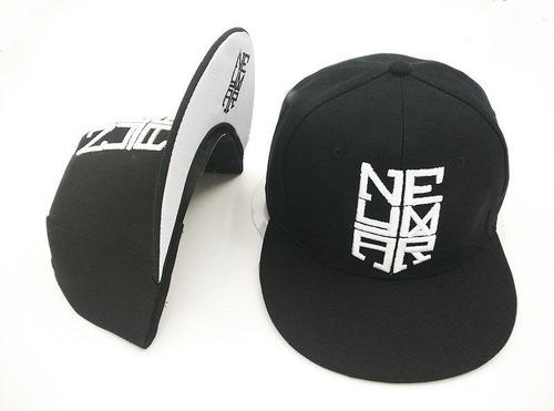 gorra plana neymar - color negro - blanco