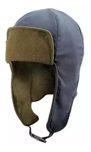 gorra polar con visera y cubre orejas natway 08 negra o gris