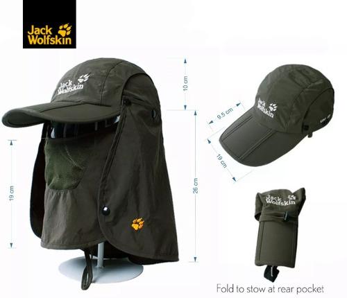 gorra prof. senderismo camping pesca safari  p/cuello