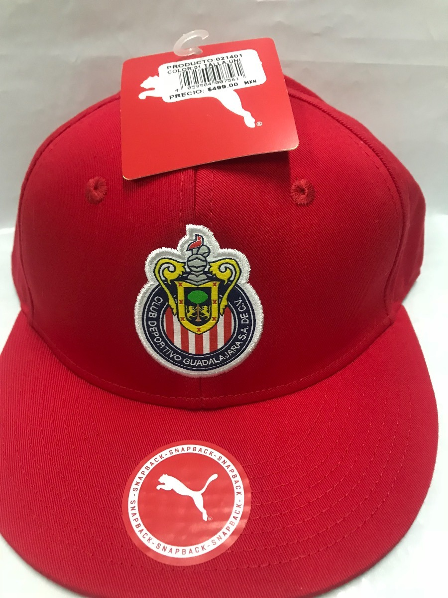Gorra Puma Chivas De Guadalajara Snapback 100%original Roja ... 377ee26d9ee