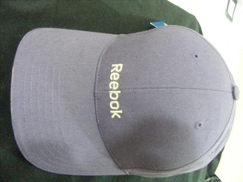 gorra reebok color morado bordada nueva y original $195.