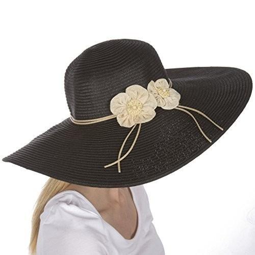 gorra sakkas bella upf 50 100% la flor de papel de paja de