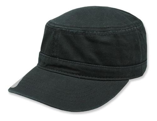 gorra sc copa baja algodon militar negro unitalla