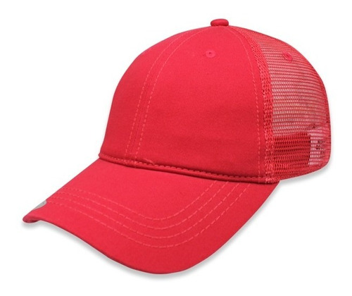 gorra sc trucker clasica algodon copa baja unitalla rojo