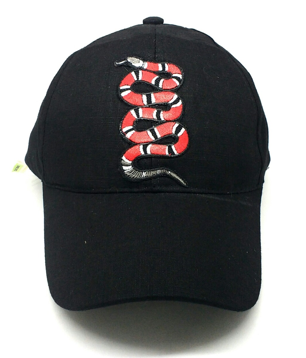 Gorra Serpiente Gucci Bordada Foto Real Hebilla Regulable -   780 2bceea8438e