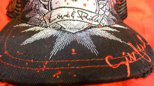 gorra sinful 100%original malla hart & huntington talla unic