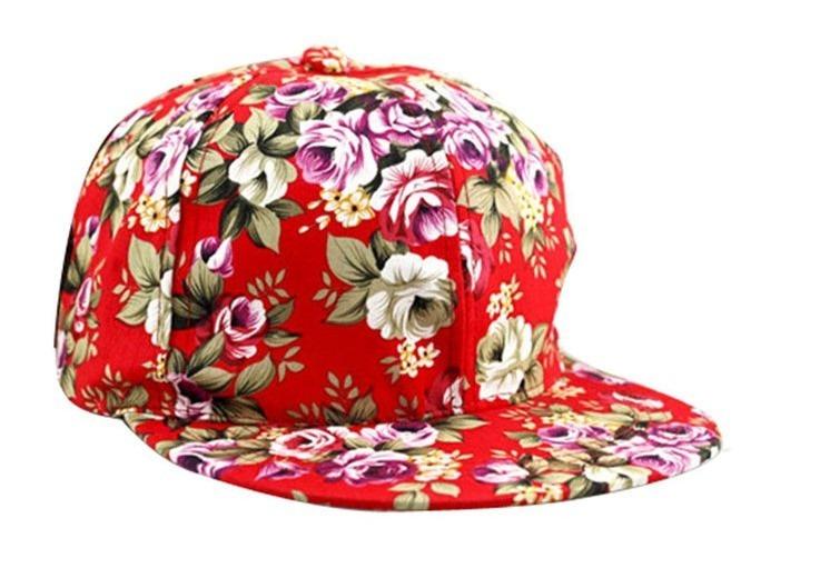 Gorra Snapback Floral Rojo Ajustable Unisex Flat Cap Hat - Bs. 0 fd887c086ac