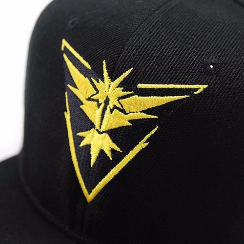 gorra snapback pokemon go bordado alta calidad