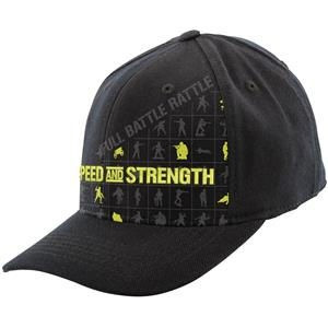 gorra speed & strength full battle rattle flexfit neg. lg/xl