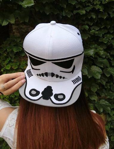 gorra stormstrooper star wars - blanca