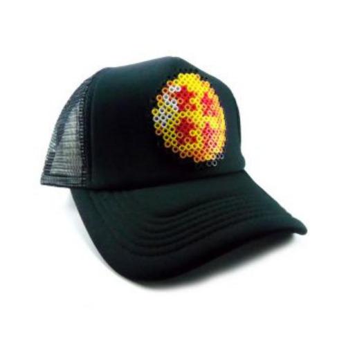 gorra sttikup esfera del dragon 4 estrellas pixel 3d-negro