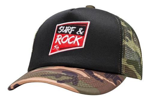 gorra surf & rock - parafina camuflada black