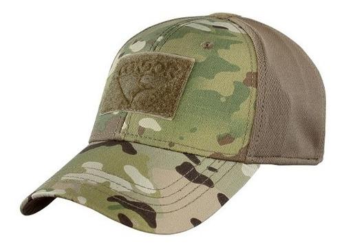 gorra tactica  marca condor , color multicam y atacs