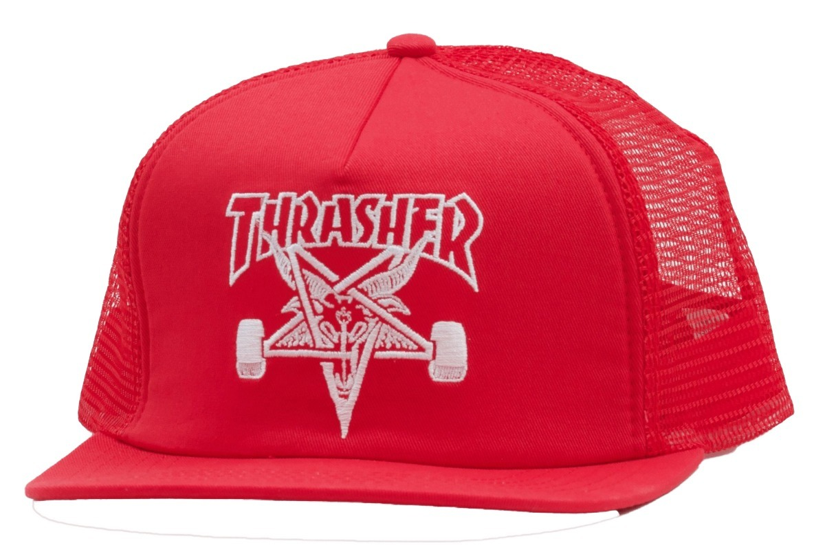 9f7ad8554e0 Gorra Thrasher Skategoat Mesh Cap Embroidered Red -   550.00 en ...