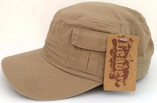 gorra tipo militar lisa leader original vintage
