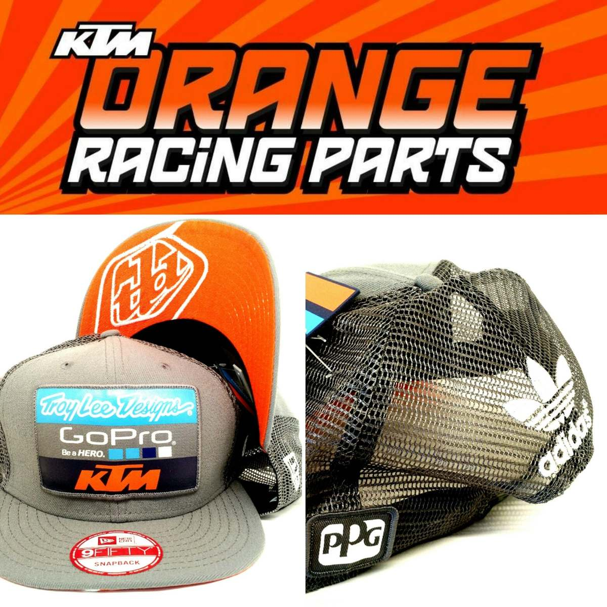 Gorra Troy Lee Design adidas Ktm Gopro!! Orange Racing Parts -   750 ... 88098bf422f