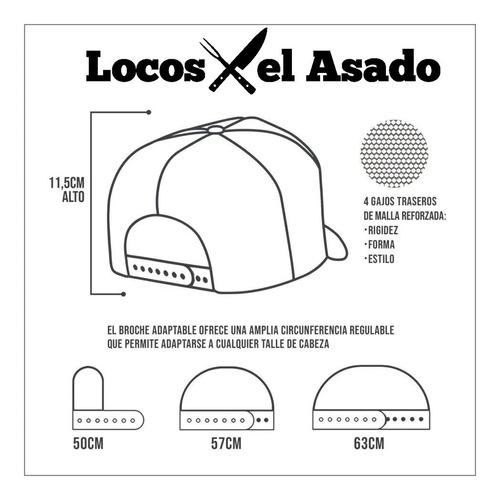 gorra trucker bordada regulable locos x el asado lxa