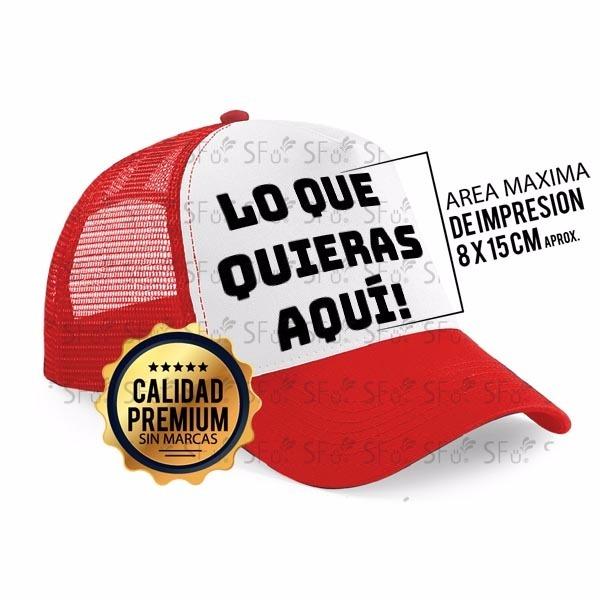 Gorra Trucker Camionera Con Tu Estampa Visera Curva Y Plana -   249 ... 955d8252f16