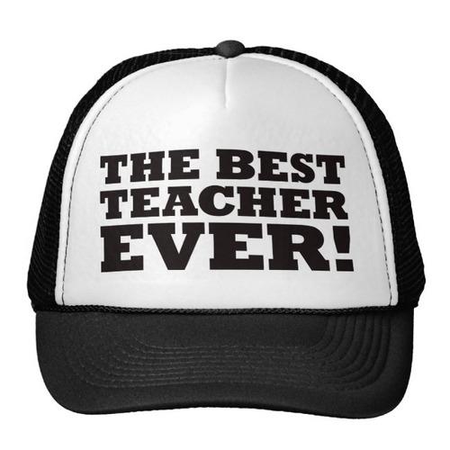 gorra trucker camionero el mejor profesor nunca gorro