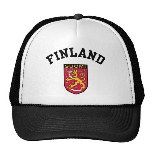 gorra trucker camionero finlandia gorro de camionero