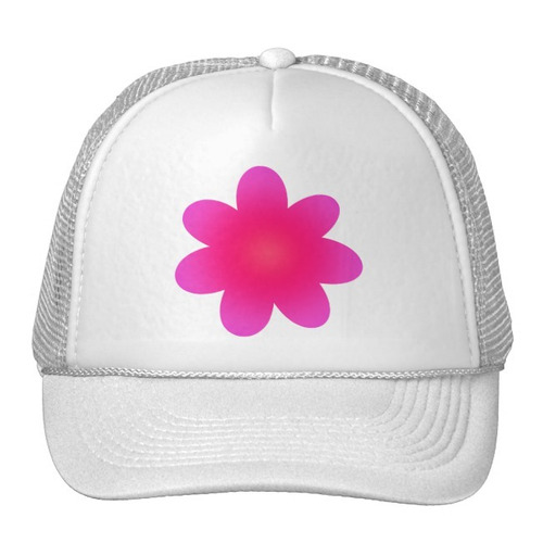 gorra trucker camionero flor rosada de