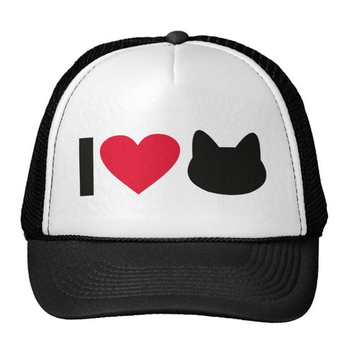 gorra trucker camionero i love cats gorro