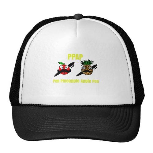 gorra trucker camionero la piña apple de la pluma de ppap e
