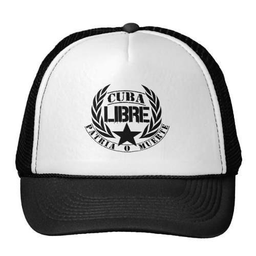 gorra trucker camionero laureles del lema de cuba libre gor
