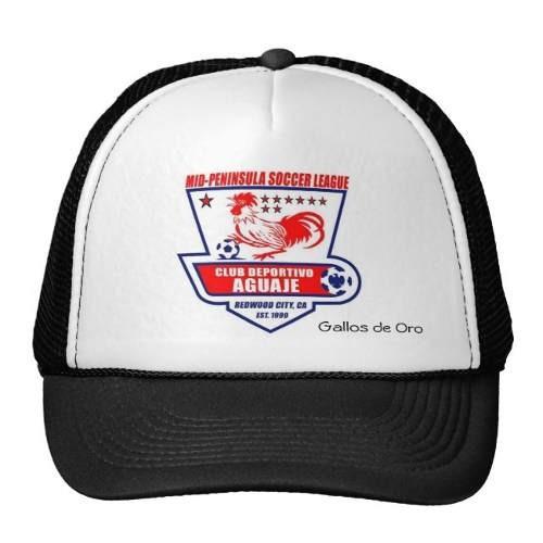 gorra trucker camionero logotipo del el aguaje, de gallos