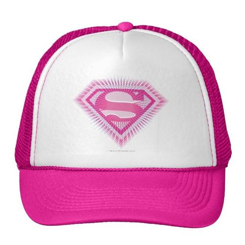 gorra trucker camionero logotipo rosado de supergirl