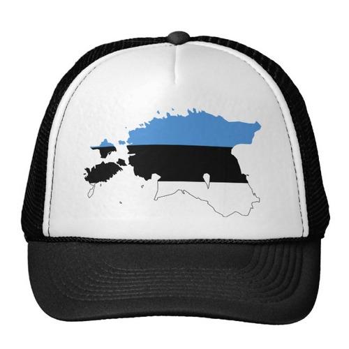 gorra trucker camionero mapa ee de la bandera de estonia