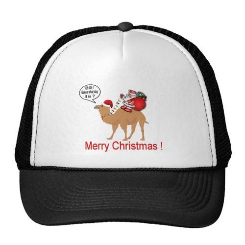 gorra trucker camionero navidad del camello del día de chep