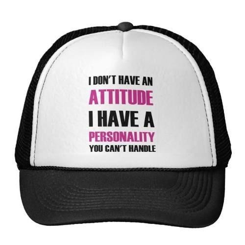 gorra trucker camionero no tengo una actitud que tengo una