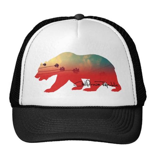 gorra trucker camionero oso de california