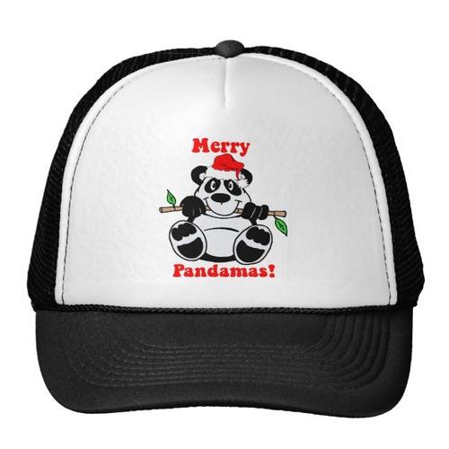 gorra trucker camionero oso de panda divertido del navidad