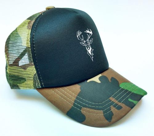 gorra trucker camuflada hunter ciervo regulable colores