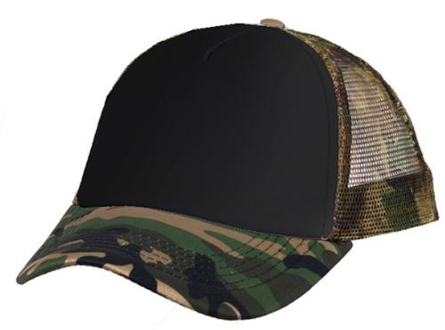 gorra trucker camuflada negro