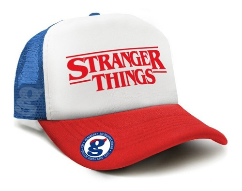 gorra trucker dustin stranger things tv serie netflix