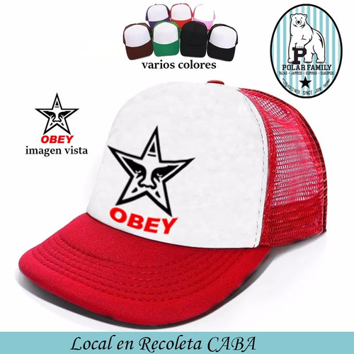 gorra trucker obey varios modelos y colores coleccion dos